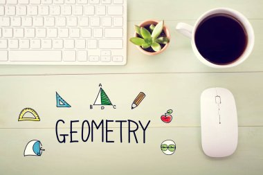 Geometry concept with workstation
