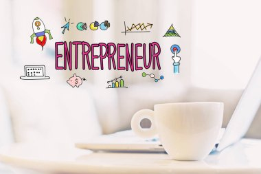 Entrepreneur concept with cup