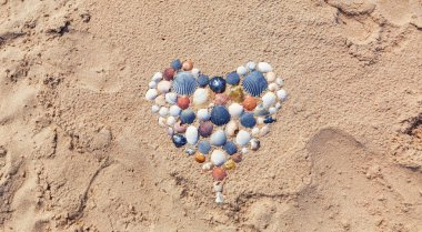 Heart made of seashells