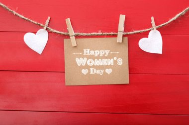 Women day message with hearts