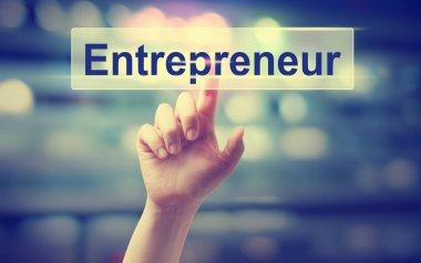 Entrepreneur concept with hand