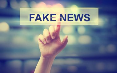 Fake News concept with hand