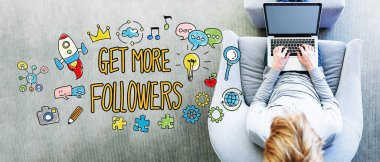 Get More Followers text