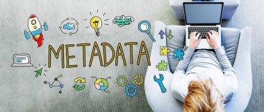 Metadata text with man