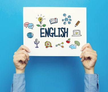 English text on white poster