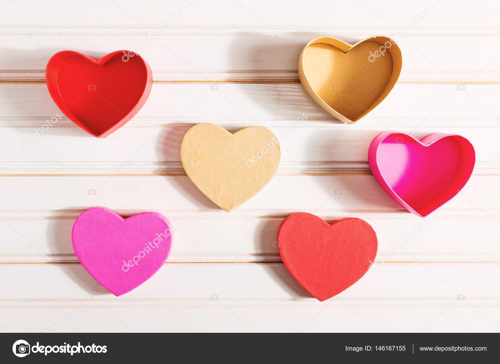 Valentines Day heart shaped boxes — Stock Photo © Melpomene #146167155