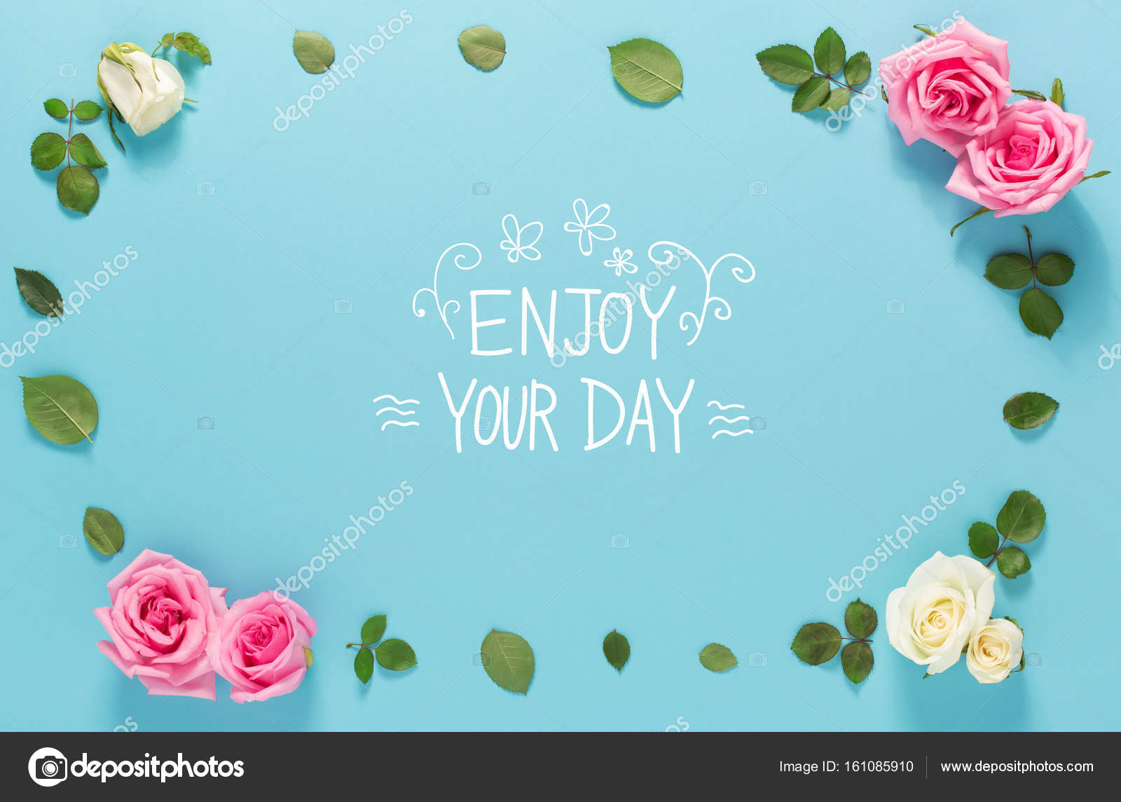 Awesome Enjoy Your Day Message U2014 Stock Photo