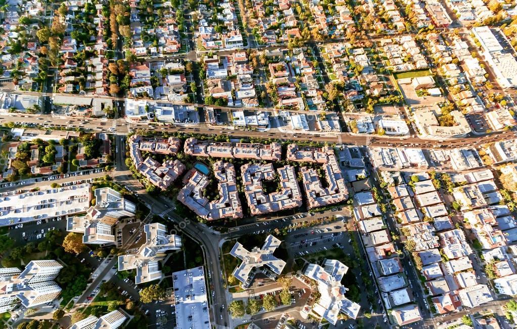 Wilshire Blvd in Westwood, LA
