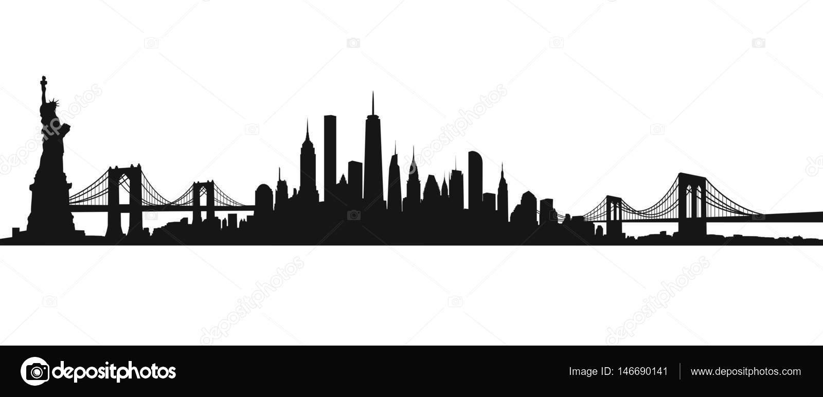 new york city skyline vector stock vector tangducminh 146690141 rh depositphotos com new york city skyline vector new york skyline vector image