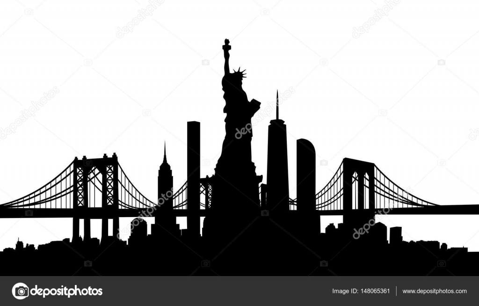 New York City Skyline Vector Stock Vector C Tangducminh 148065361