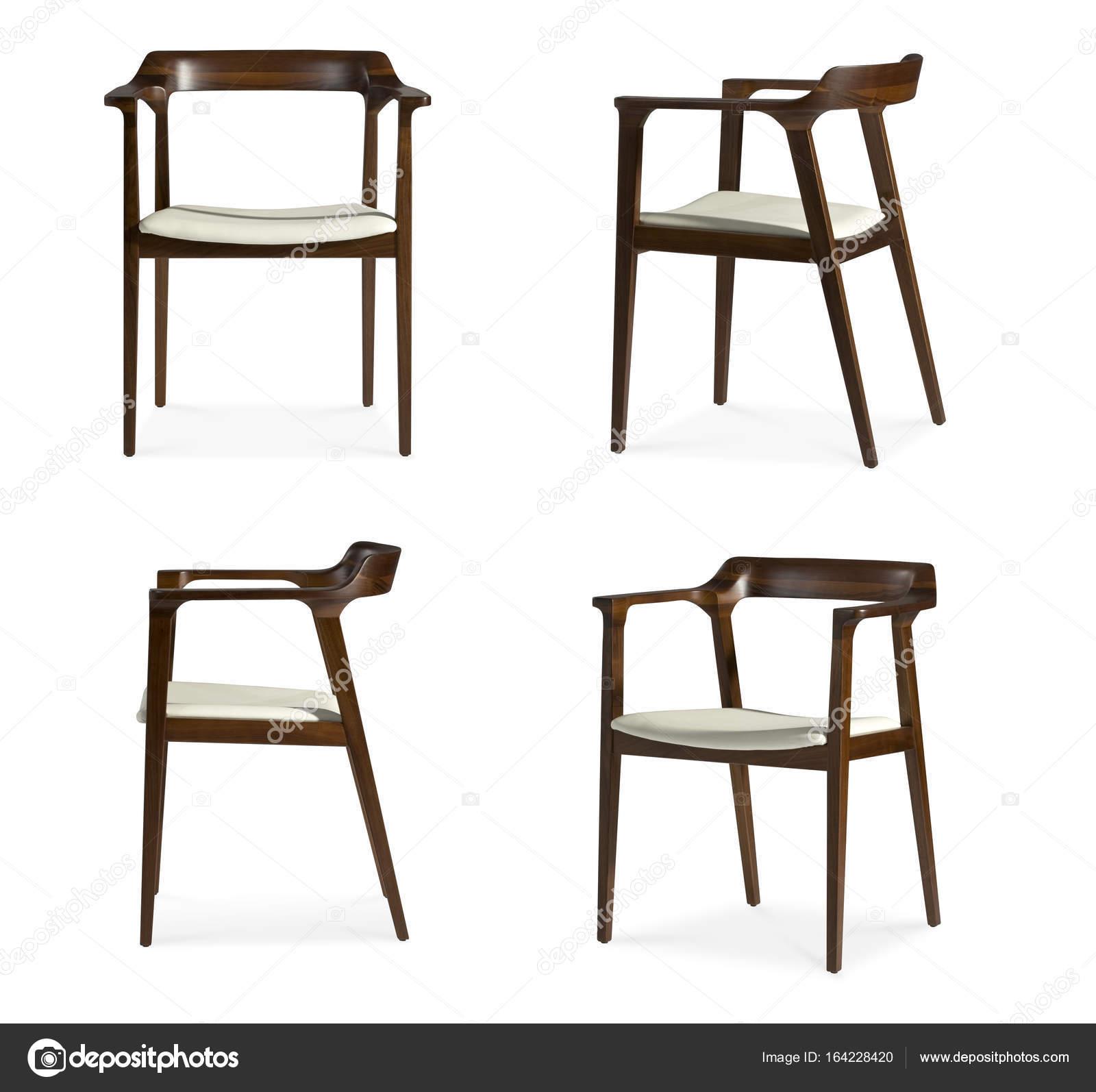 Design Aus Holz Leder Sitz Stuhl — Stockfoto © Tangducminh
