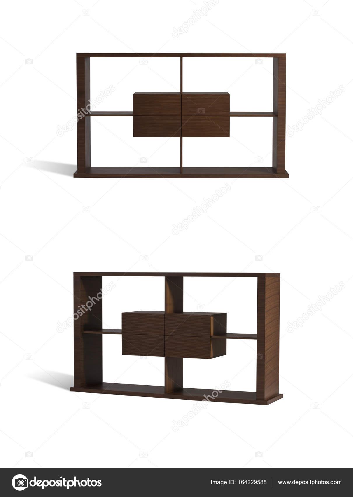 Mobili In Legno Design.Mobili Di Legno Mensola Moderna Design Cassetto Foto Stock