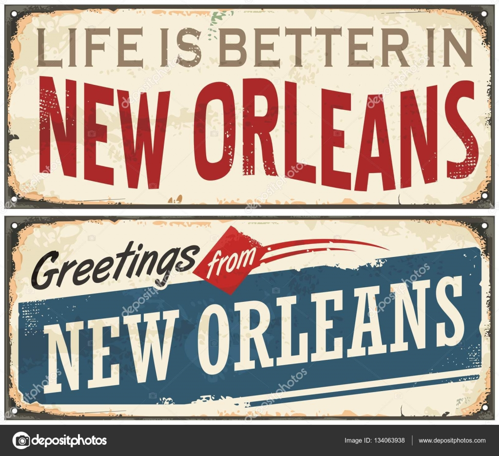 New orleans florida retro tin sign stock vector lukeruk 134063938 new orleans florida retro tin sign design on old rusty background usa cities vintage set greetings from new orleans vector by lukeruk m4hsunfo