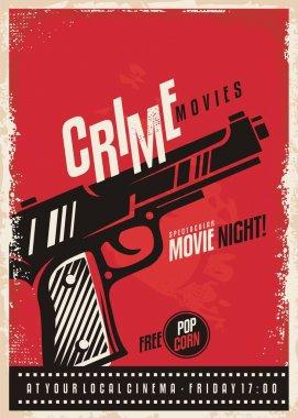 Crime movies poster design