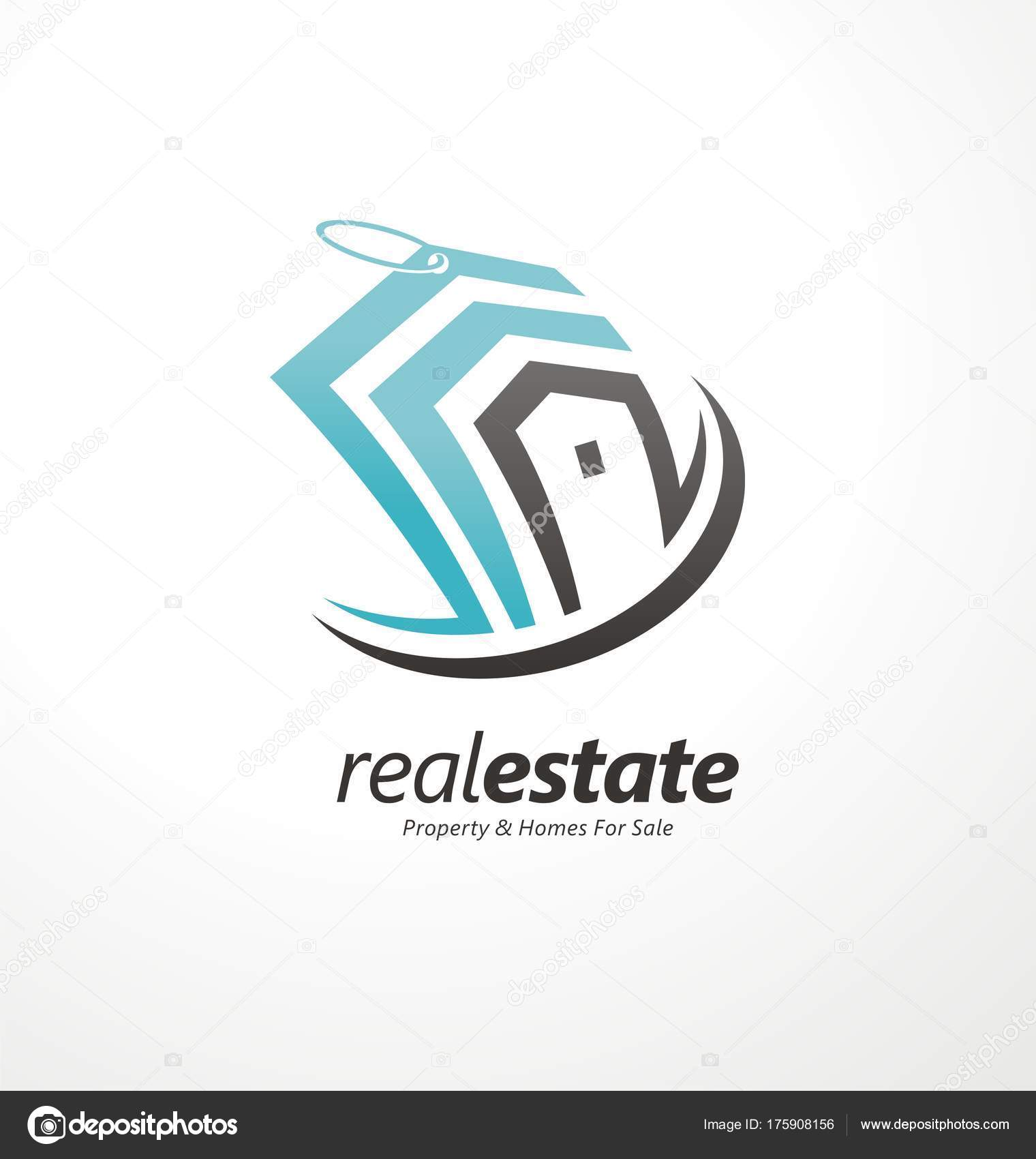 Real Estates Business Creative Logo Design Concept Home Logo Idea ...