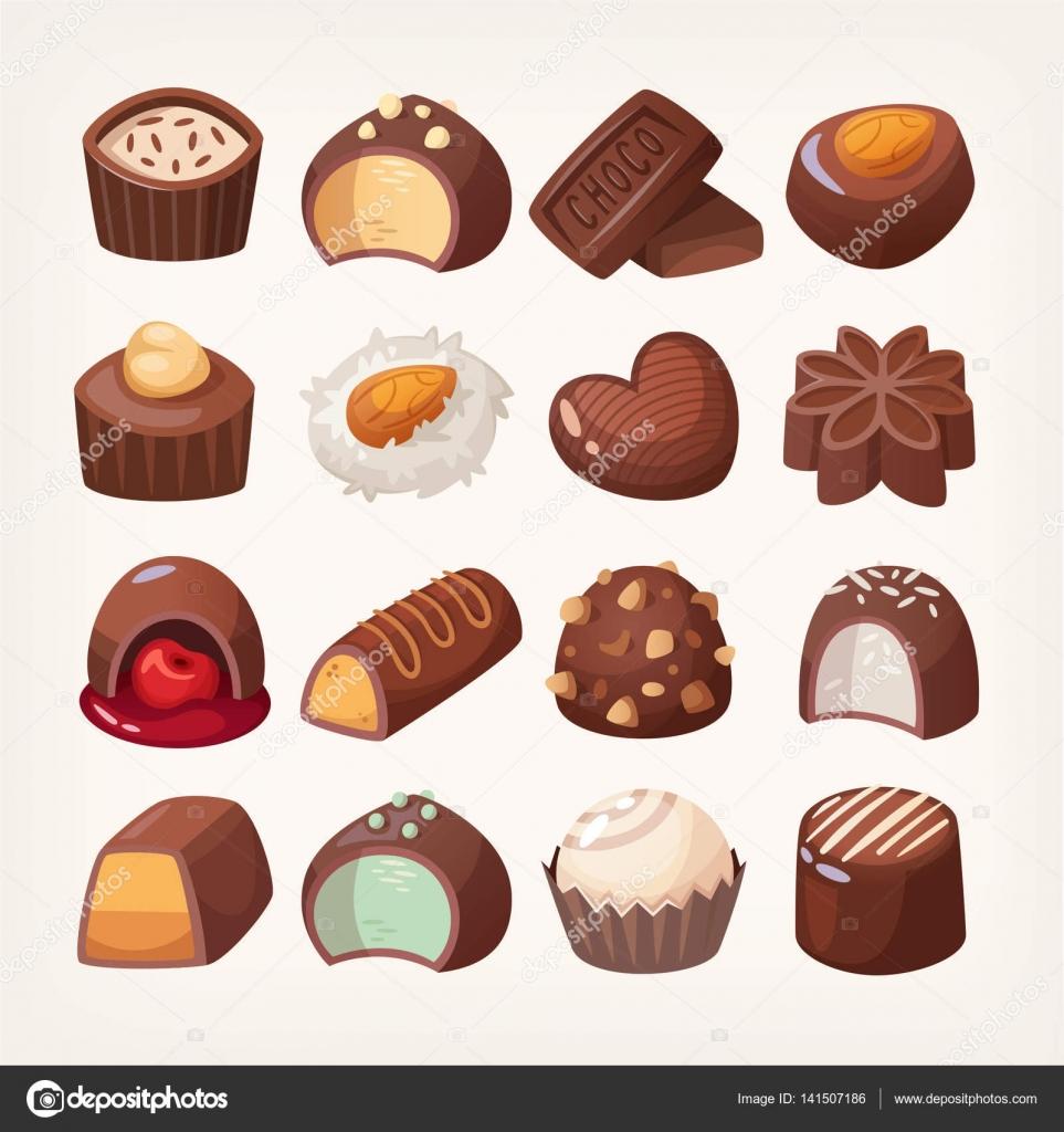 Dulces de chocolate vector — Archivo Imágenes Vectoriales © moonkin ...
