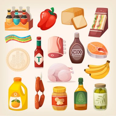Food products icons