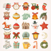 Photo Christmas stickers and icons