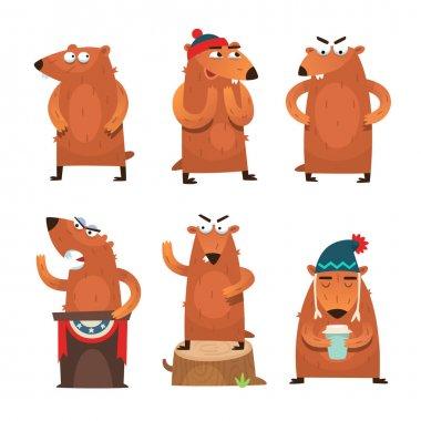 Groundhog day characters