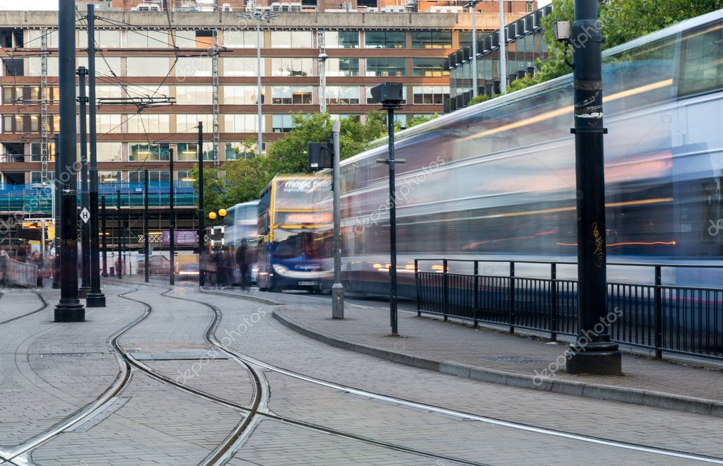Piccadilly central bus station Manchester Stock Editorial Photo