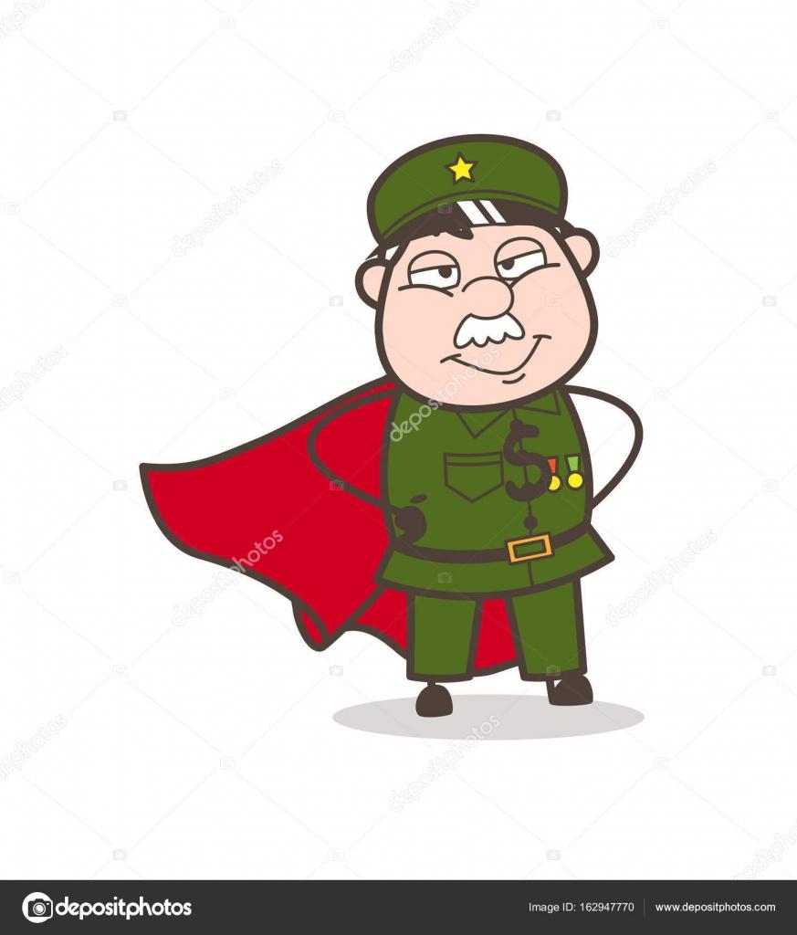 Cartone animato super eroe sergente u2014 vettoriali stock © lineartist