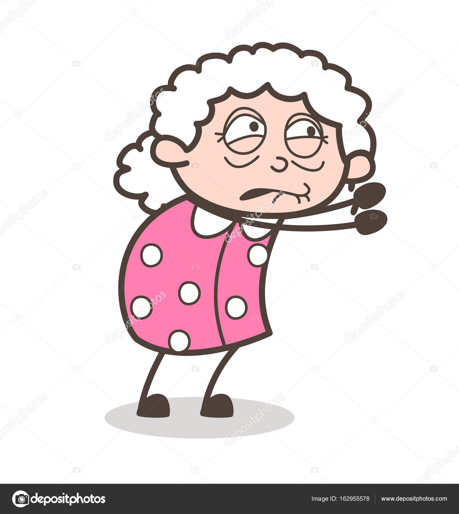 cartoon old poor lady begging vector concept stock vector rh depositphotos com old lady cartoon meme old lady cartoon meme