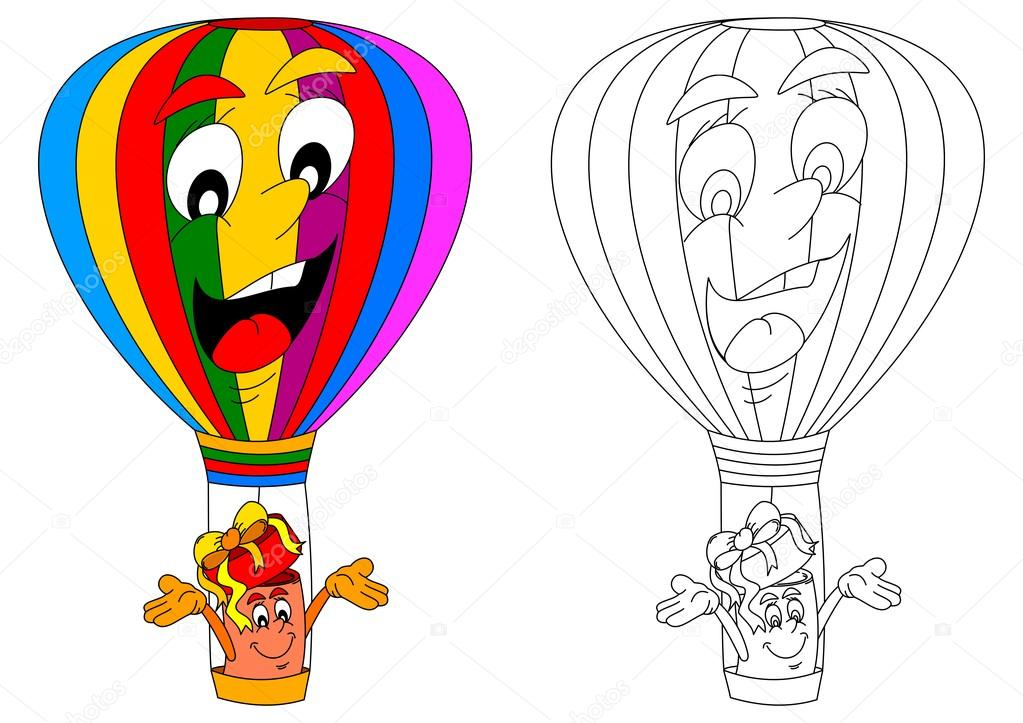 Colorful And Cheerful Flying Balloon And Gift Stock Vector