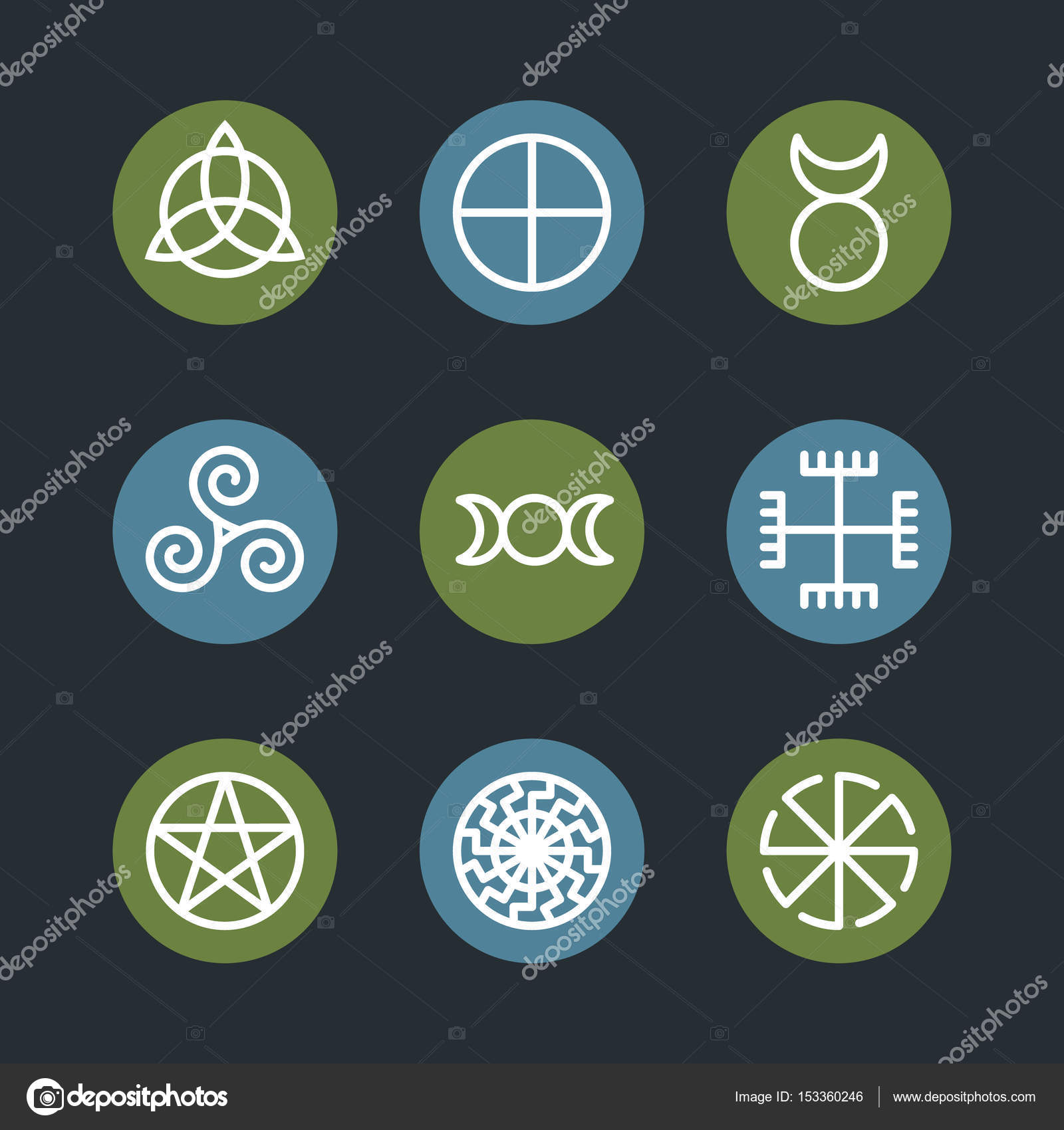 Pagan ancient symbols mystery sacred icons illustration stock pagan ancient symbols mystery sacred icons illustration stock vector buycottarizona