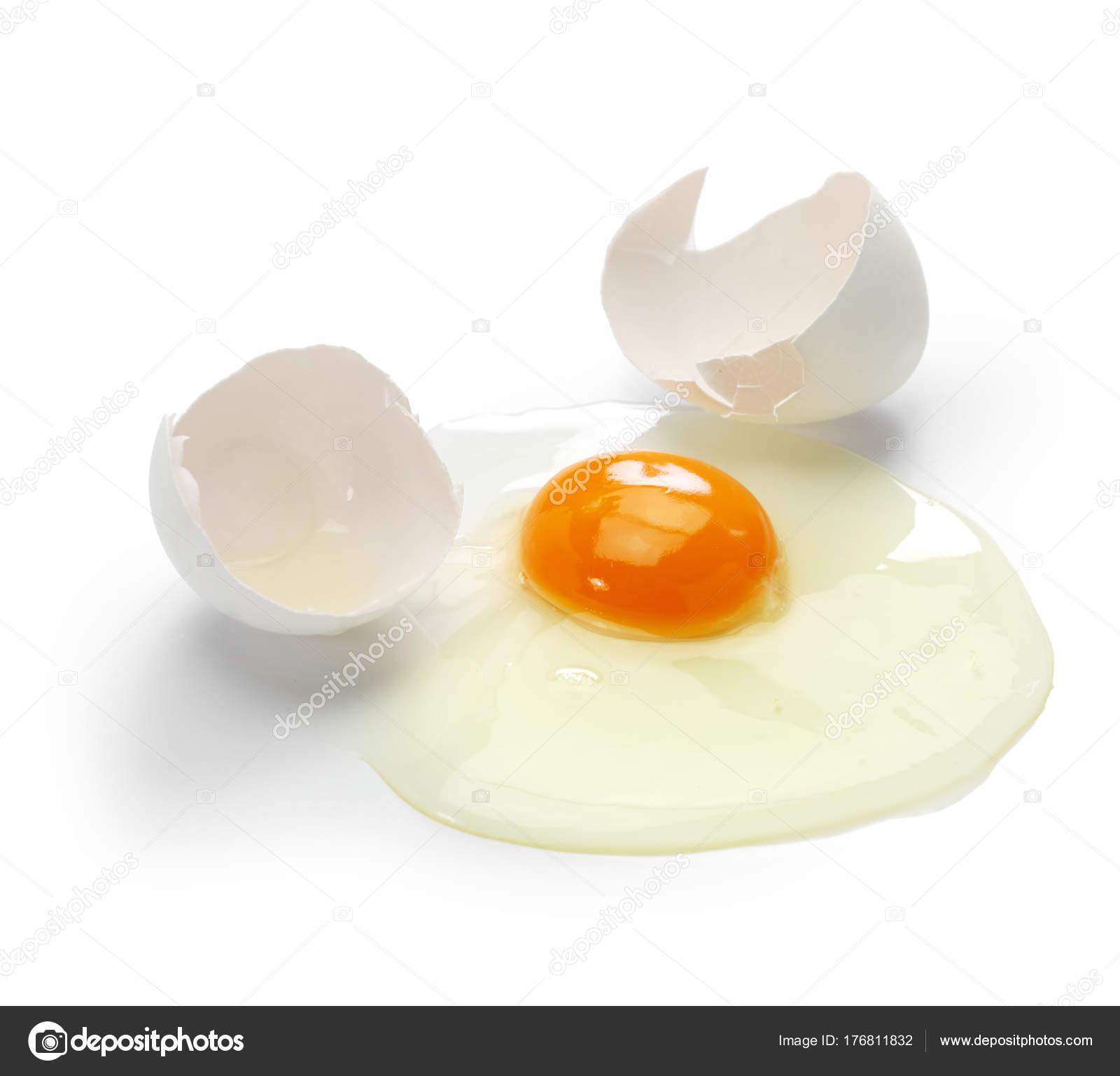 Broken Egg Isolated White Background Stock Photo