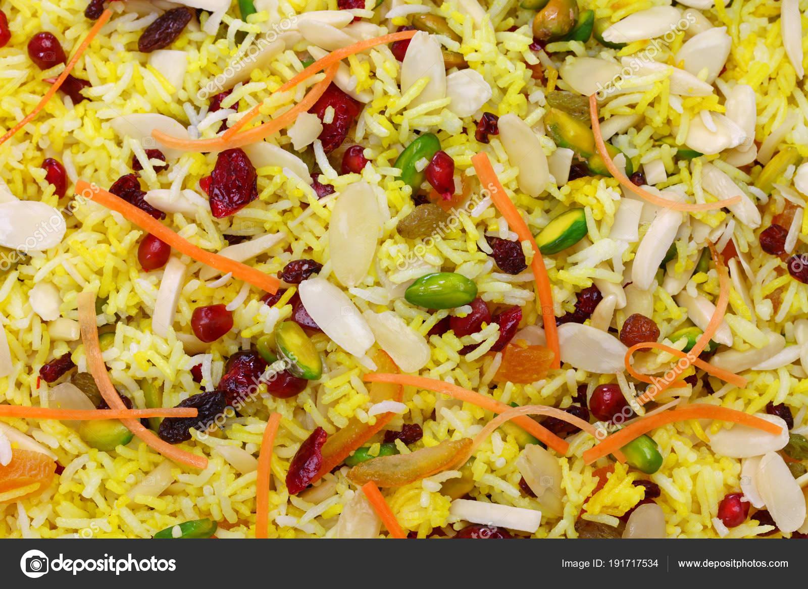 Persische Küche Jeweled Persischen Reis Javaher Polow U2014 Stockfoto