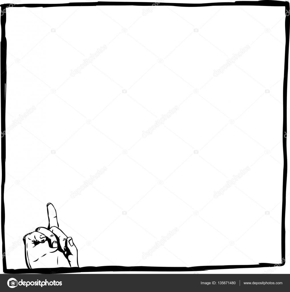 Gliederung der einzelnen Finger nach oben im quadratischen Rahmen ...