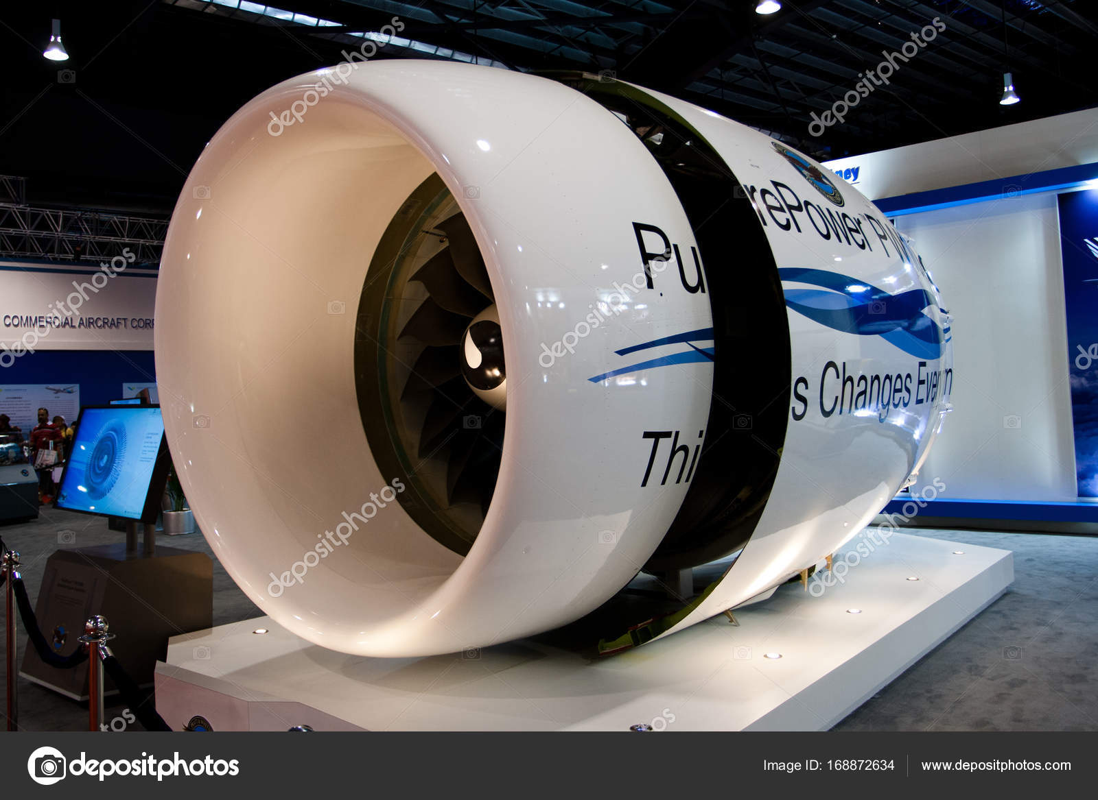 Pratt & Whitney Jet engine – Stock Editorial Photo