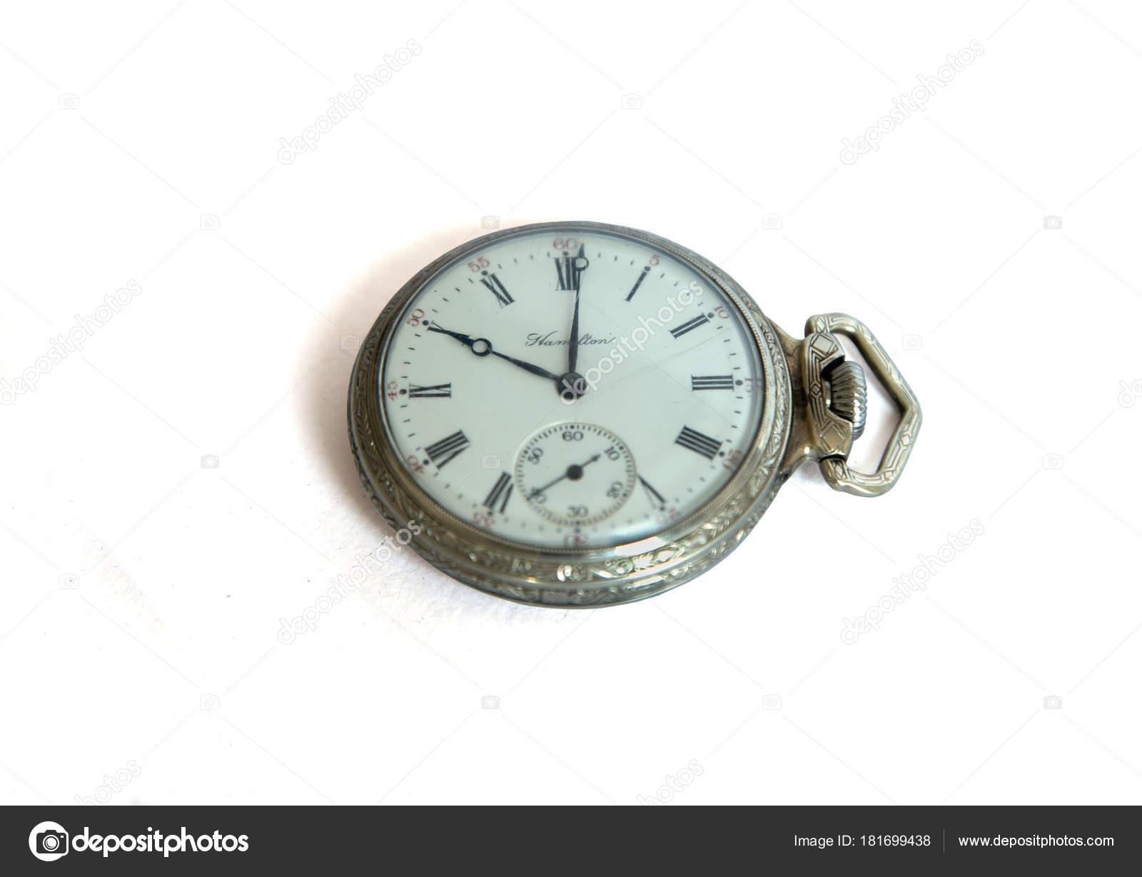 Bolsillo Hamilton Vintage Editorial De — Foto Stock Reloj KcF1TJ3l