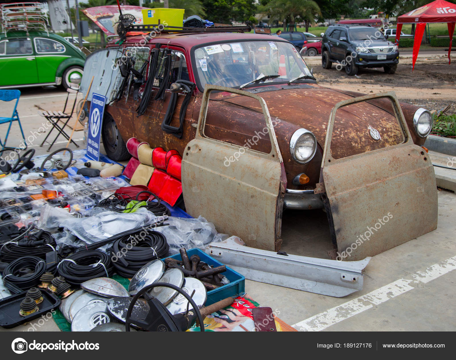 Volkswagen Type 3 Squareback rat style sell used spare parts – Stock ...