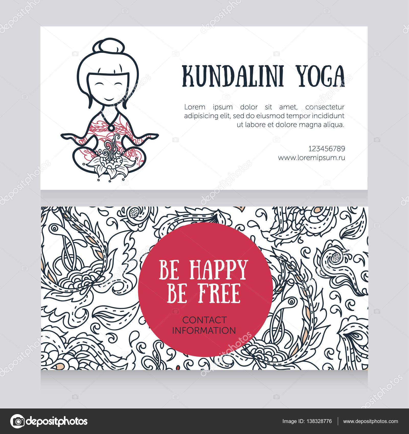 Karten Vorlage für Yoga-studio — Stockvektor © ghouliirina #138328776