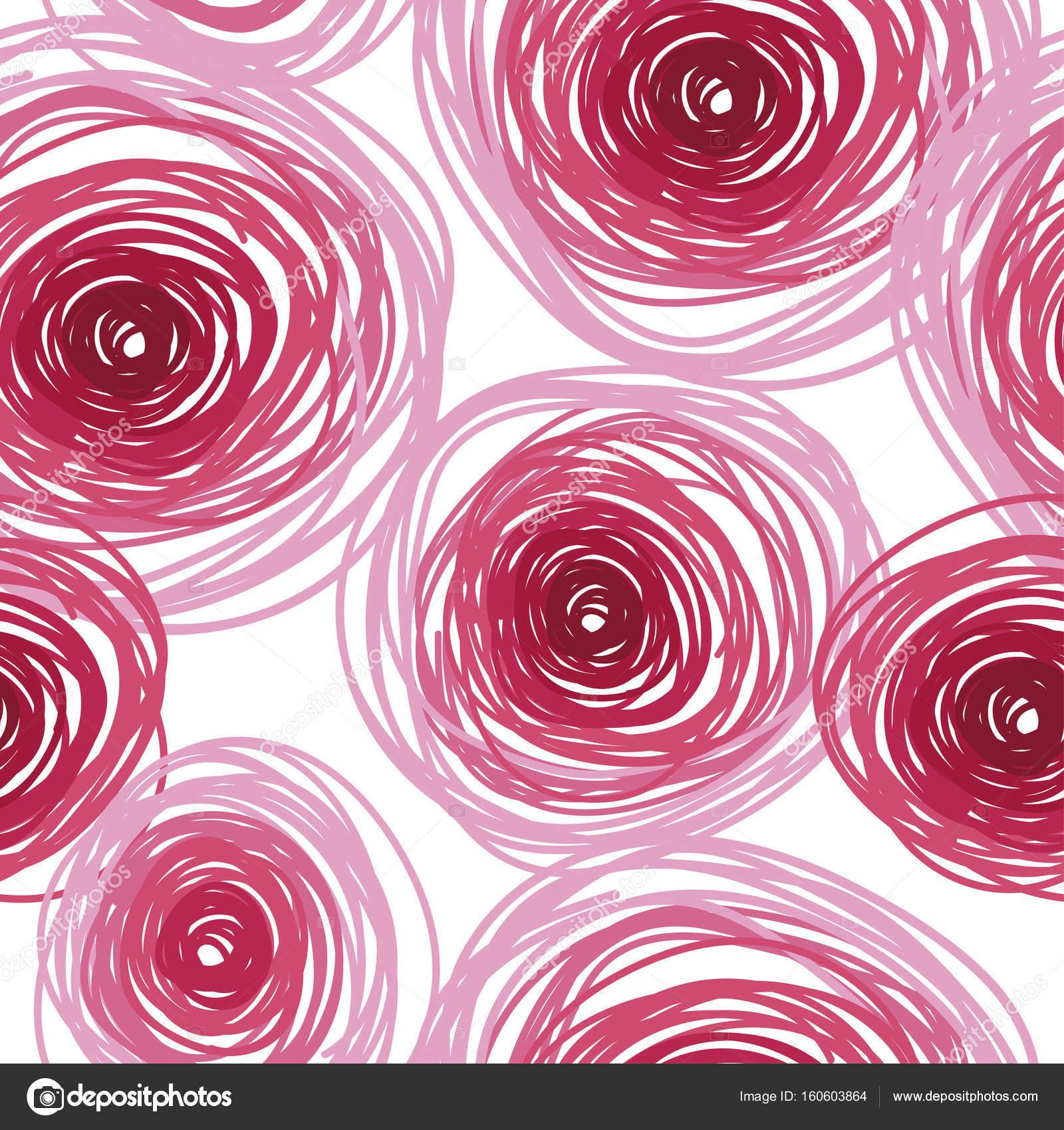 Ornamento De Azulejos Rosas Abstratas Vetores De Stock - Azulejos-rosas