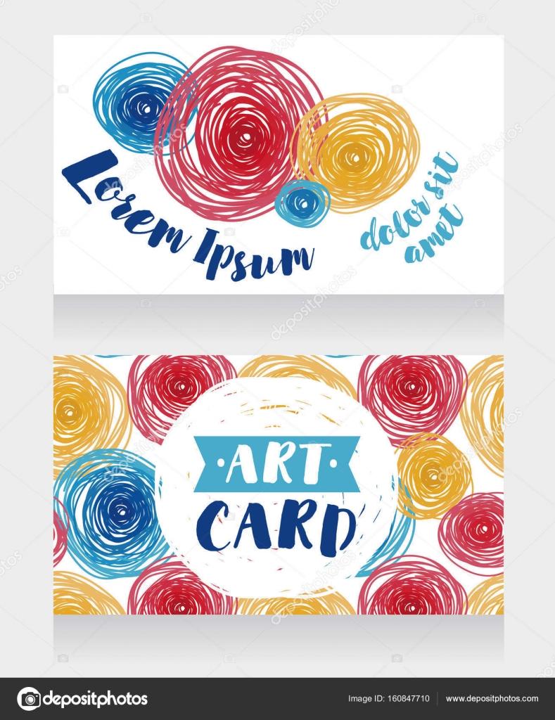 plantillas para tarjetas de visita con círculos de colores — Vector ...