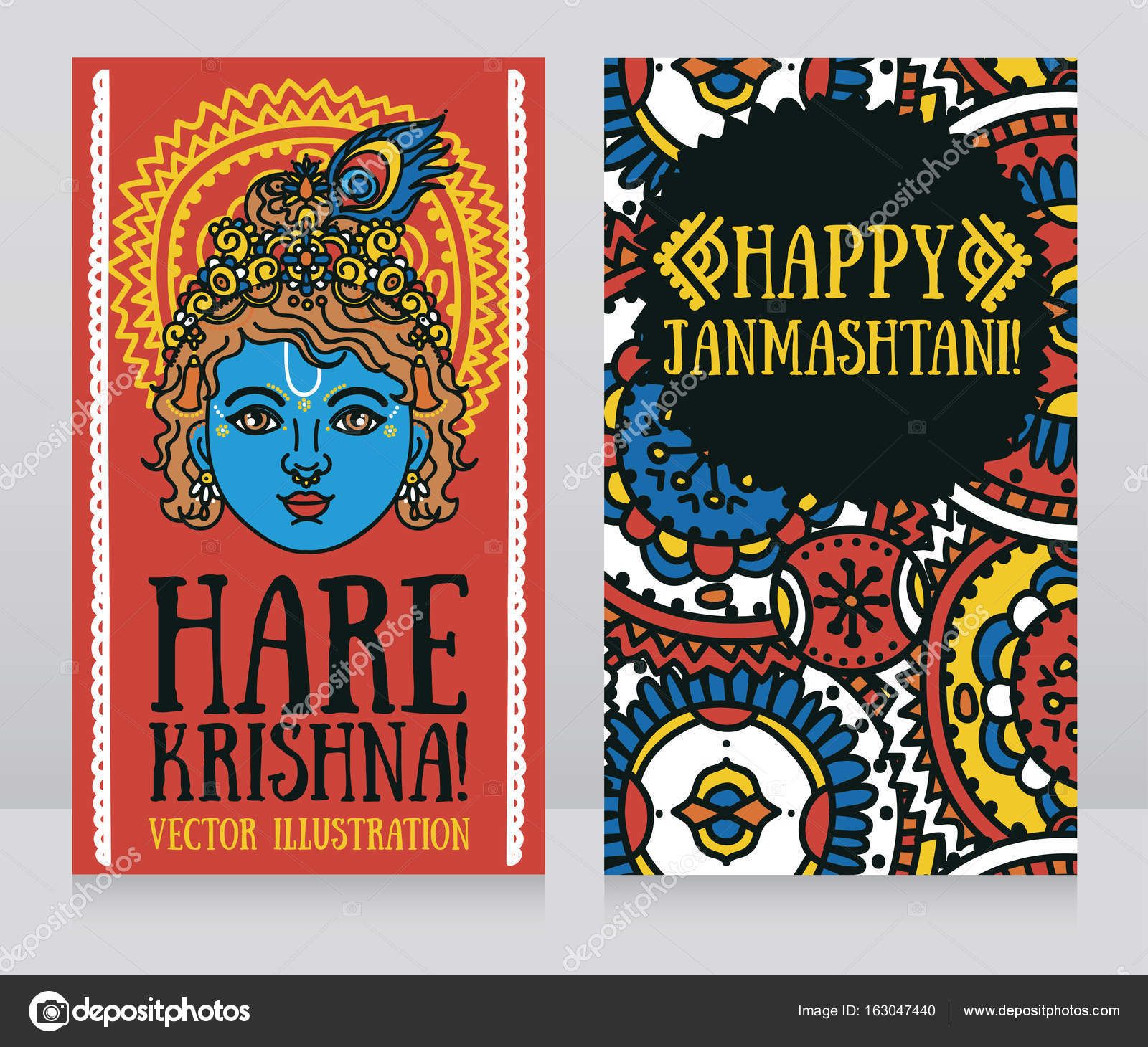 Two greeting card for krishna birthday with little krishna portrait two greeting card for krishna birthday with little krishna portrait stock vector kristyandbryce Gallery