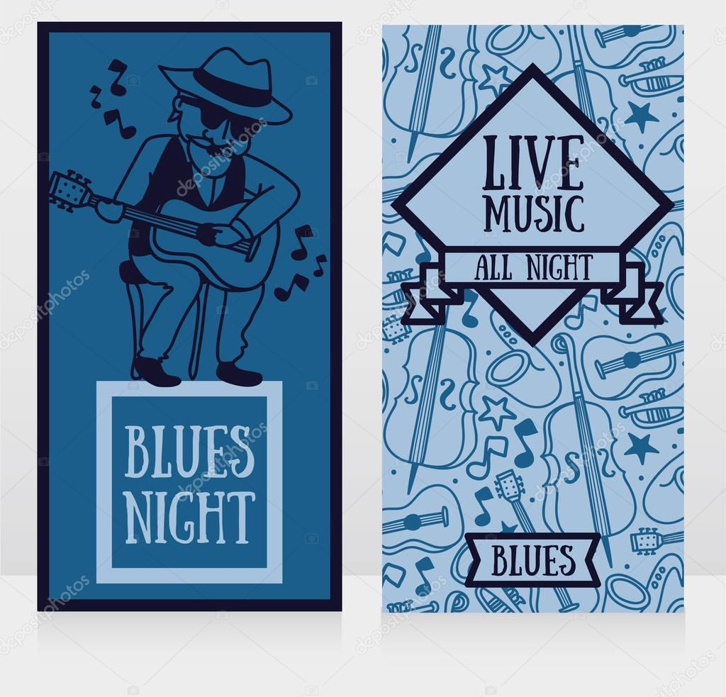 Banners template for live music night
