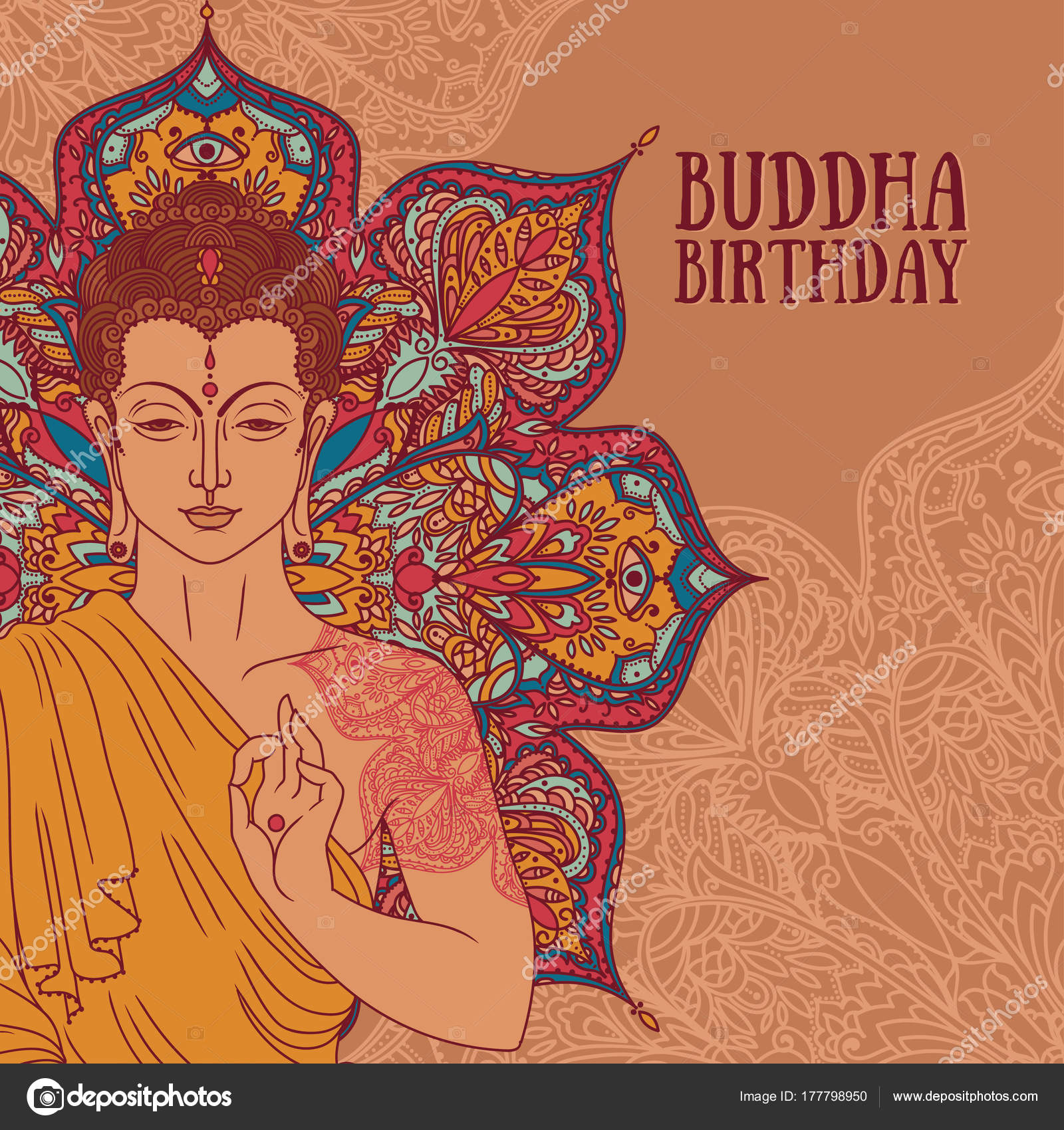Boeddha Meditatie Prachtige Magische Mandala Kan Worden Gebruikt Als