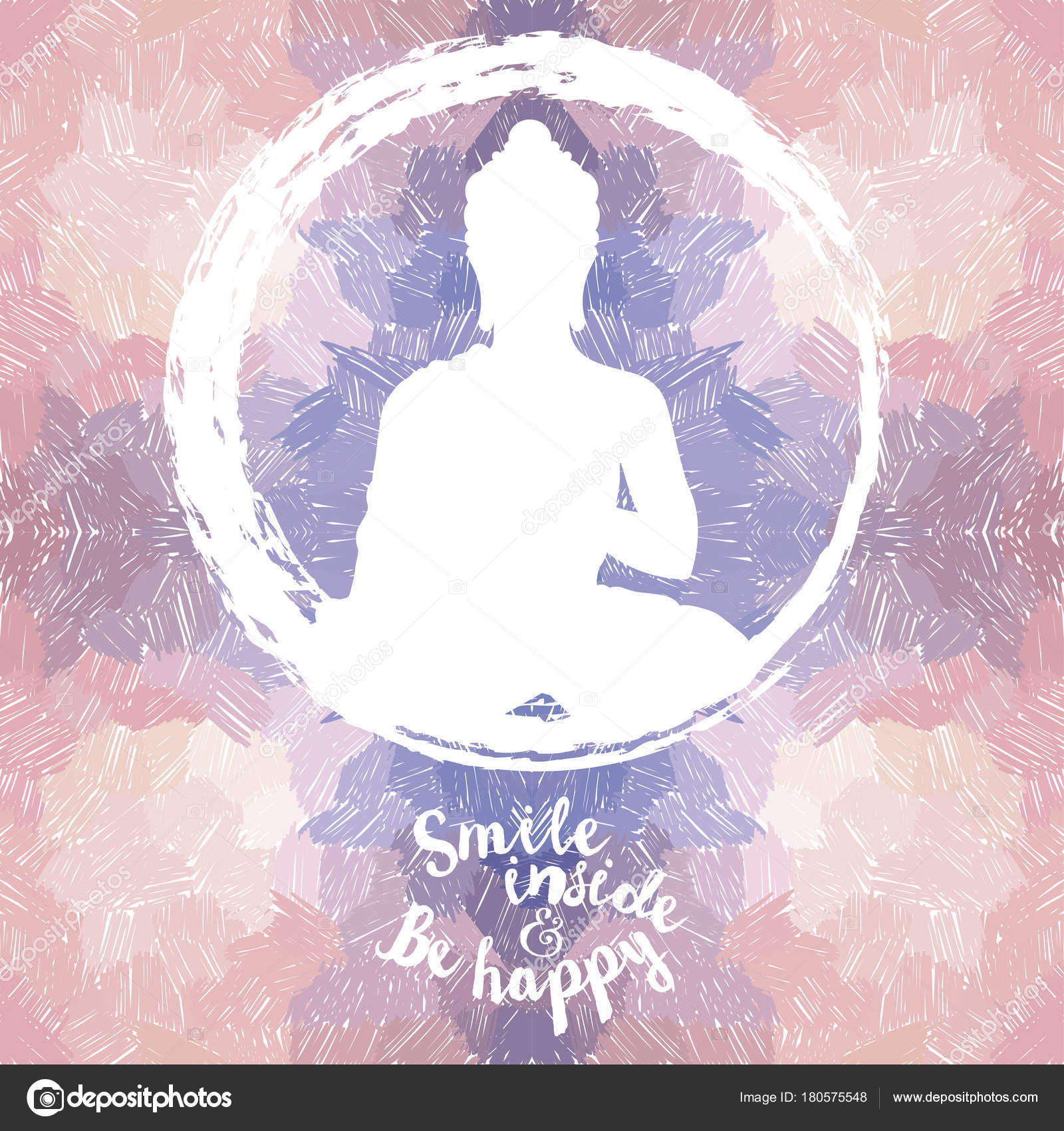 Poster Buddha Silhouette Artistic Background Can Used Yoga Studio Vector Stock