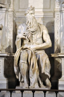 Statue of Moses by Michelangelo in the church of San Pietro in V