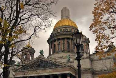 Saint Isaak's cathedral in Saint-Petersburg, Russia