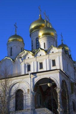 Annunciation church of Moscow Kremlin. Color photo