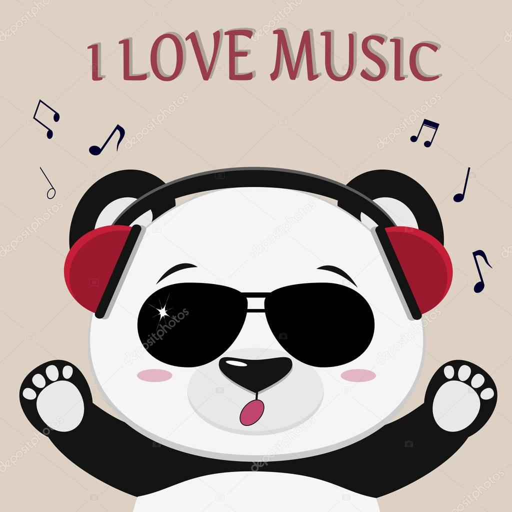 72371b7976 Panda τραγουδιστής κόκκινα ακουστικά