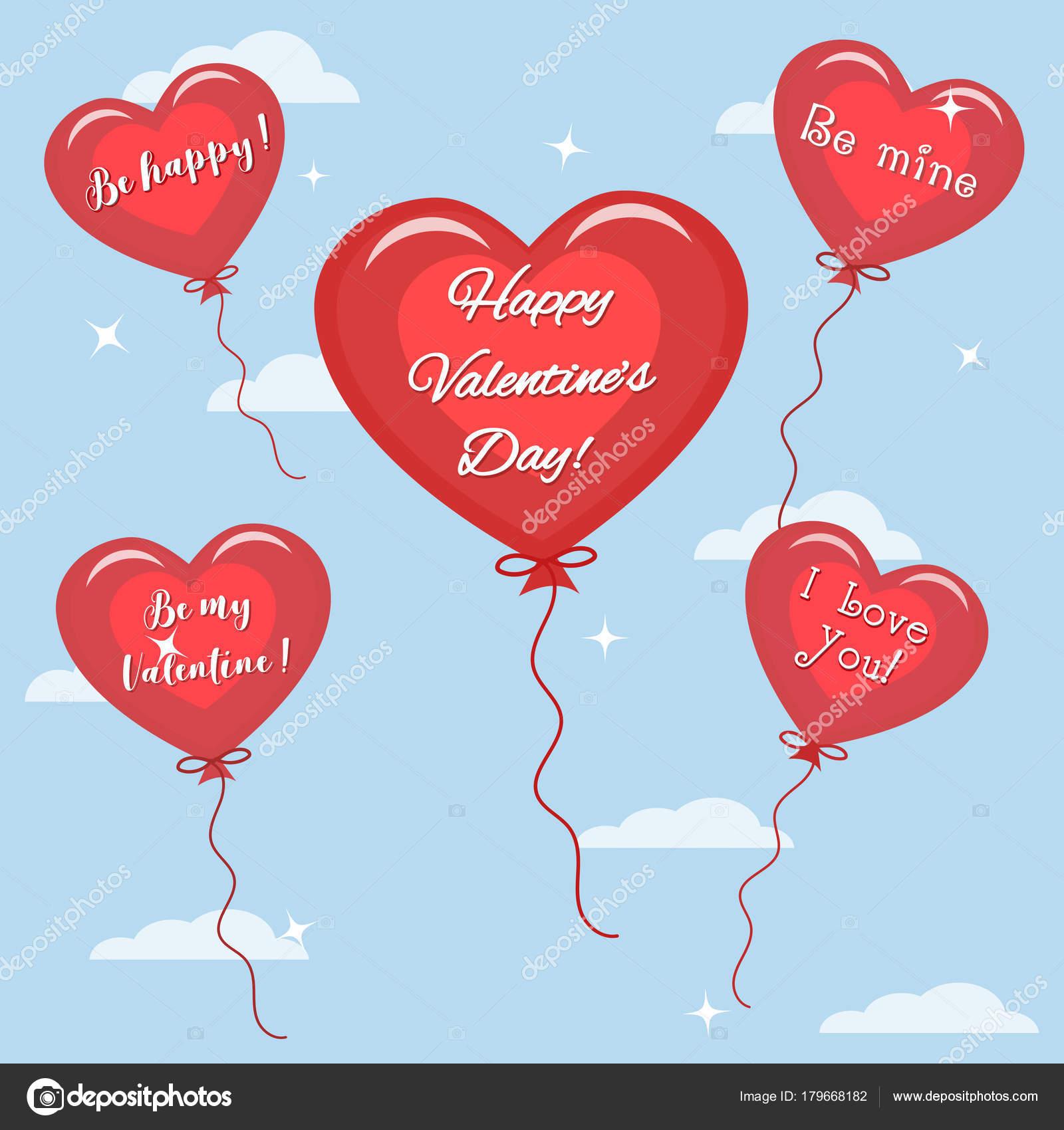 gefeliciteerd met valentijnsdag Vijf rode ballon met de tekst van gefeliciteerd op Valentijnsdag  gefeliciteerd met valentijnsdag
