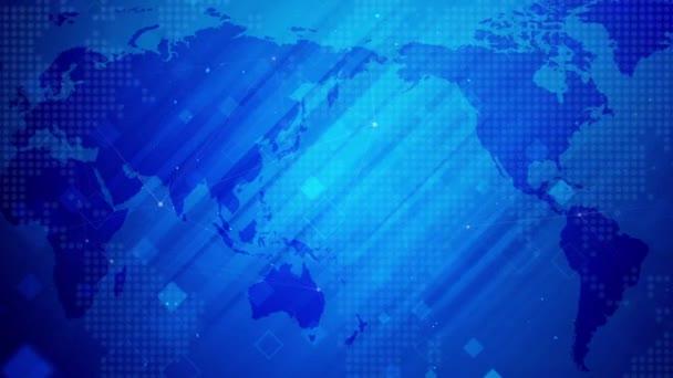 Digital Business Network.News firemní pozadí, World map koncept