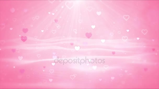 Abstract cute animated background,Love on Valentines Day concept.