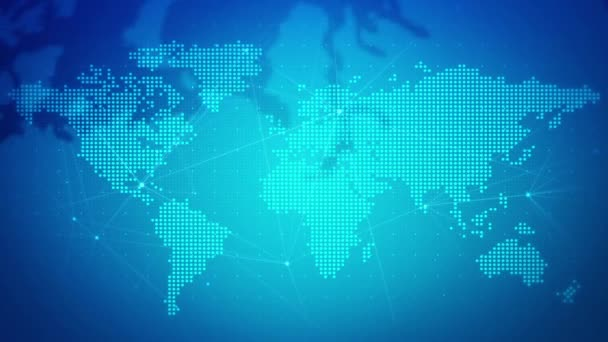 Digital world map network background