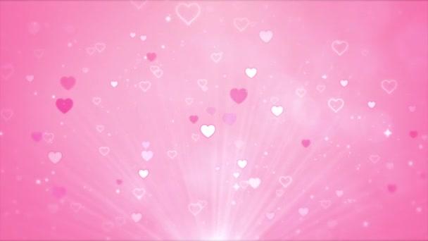 Abstraktní roztomilé animované pozadí, Valentine krásné srdce prezentace koncept.